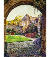 "david lloyd glover courtyard impressions provence canvas art - 37"" x 49"""