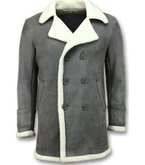 mantel tony backer imitatie bontjas lang lammy coat