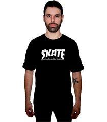 camiseta manga curta skate eterno fire preto - kanui