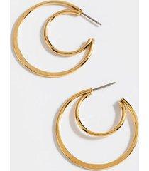 demi double hoop earrings - gold