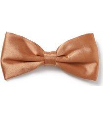 mens gold bronze satin bow tie