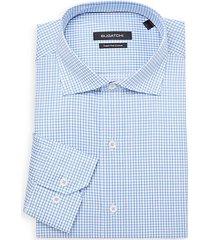 checker superfine cotton dress shirt