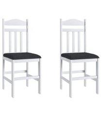conjunto de cadeiras 200 móveis canção 2 peças c/ assento estofado