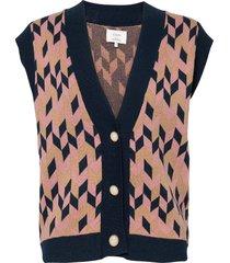 nucharis vest vests knitted vests roze nümph