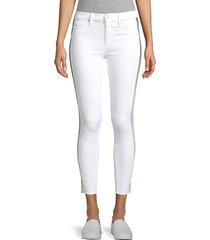 barb high-rise racing stripe skinny jeans