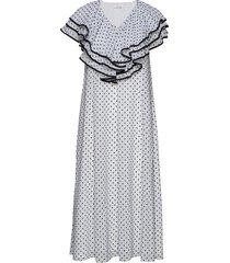 claire, 845 chiffon mix jurk knielengte zwart stine goya