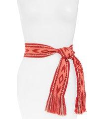 women's isabel marant etko geo tie belt, size one size - coral