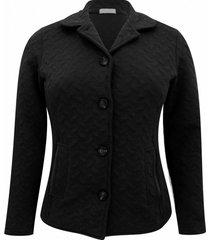 casaco pau a pique matelassê preto