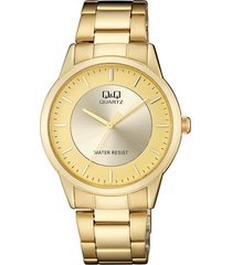 reloj para caballero elegante q&q qa44j010y dorado