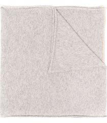 brunello cucinelli cashmere knit scarf - grey