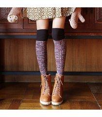 donna retro calze lunghe di lana pesante con stile giapponese