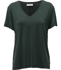 siff v-neck 6202 t-shirts & tops short-sleeved groen samsøe & samsøe