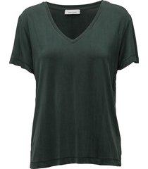 siff v-neck 6202 blouses short-sleeved groen samsøe & samsøe