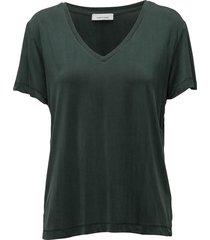 siff v-neck 6202 t-shirts & tops short-sleeved groen samsøe samsøe