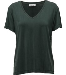 siff v-neck 6202 t-shirts & tops short-sleeved groen samsøe samsøe