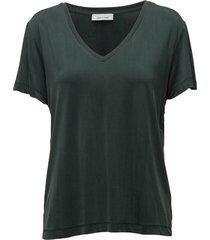 siff v-neck 6202 blouse korte mouwen groen samsøe & samsøe