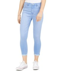 celebrity pink juniors' curvy cuffed high-rise cropped skinny jeans