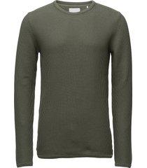 reiswood 2.0 stickad tröja m. rund krage grön minimum