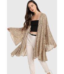kimono beige-negro forever 21