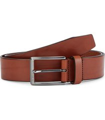 boss hugo boss men's sammyo leather belt - brown - size 32