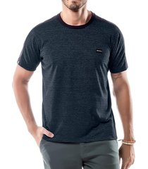 camiseta listras twice no stress azul marinho - kanui