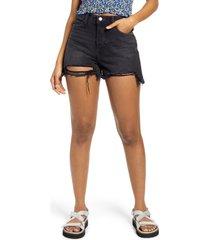 bp. ripped high waist black wash shorts, size 31 at nordstrom