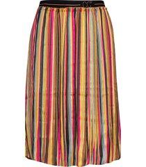 skirt in plissé and multi color pri knälång kjol multi/mönstrad coster copenhagen