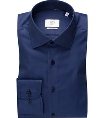 eterna shirt donkerblauw geprint comfort fit