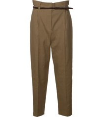 brunello cucinelli high belted waist trousers