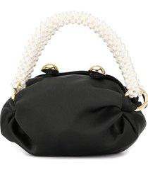 0711 micro nino pearl-handle tote - black