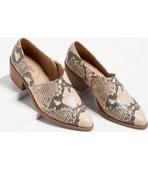 maurices womens amanda snakeskin stitch low side shootie brown