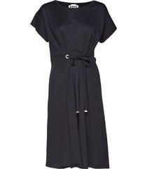 lock dress jurk knielengte zwart hope