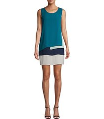 colorblock sleeveless mini dress