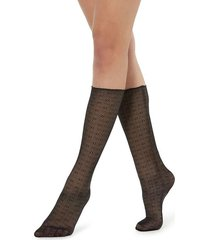 calzedonia fancy mid-calf socks woman black size tu