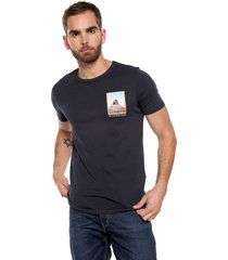 camiseta azul navy-multicolor jack & jones