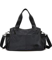 nylon nero borsa a spalla grande capacità borsa viaggio borsa borsa a tracolla borsas