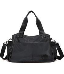 sacchetti trasversali del sacchetto di viaggio del sacchetto di spalla della borsa di grande capacità nera del nylon nero