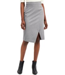 alfani ponte-knit asymmetrical skirt, created for macy's