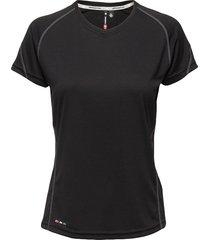 base coolskin tee t-shirts & tops short-sleeved svart newline