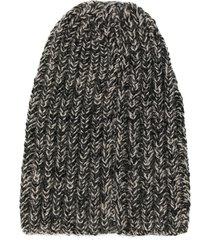 voz hand knit beanie - grey