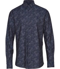 brosna button under skjorta casual blå morris