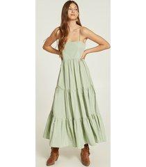 motivi vestito lungo a balze donna verde