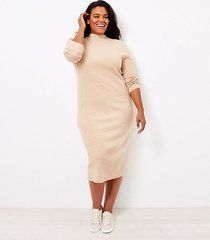loft loft plus ribbed midi sweater dress