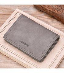 billetera super- cartera con cremallera monedero de los-gris