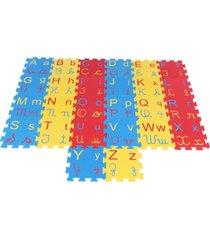 brinquedo educativo tapete alfabeto 4 em 1 - azul/multicolorido - dafiti