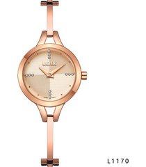 reloj para dama marca loix ref l 1170-07 oro rosa