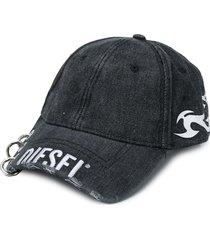 diesel hoop detail cap - black