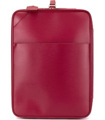 louis vuitton pre-owned pegase 55 travel bag - red