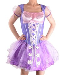 adult princess rapunzel tangled sexy fairy fancy dress cosplay costume purple 51