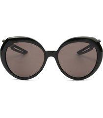 balenciaga balenciaga bb0024s black sunglasses
